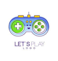 Gamepad with buttons to play gaming controller vector
