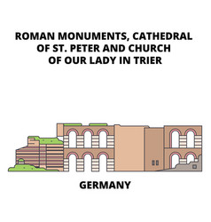 germany cathedral of st peter and church of our vector image