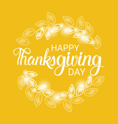 Happy thanksgiving day autumn traditional holiday vector