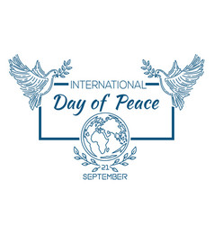 International day of peace logo design vector