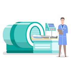 Laboratory diagnostics man patient lying at vector