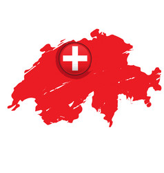 map of switzerland with a label vector image