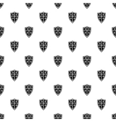 Medieval shield pattern simple style vector