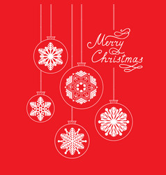 merry christmas background doodle ball vector image