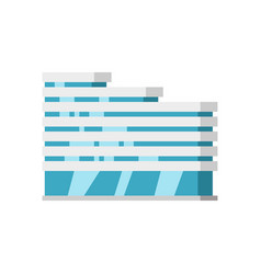 modern city building isolated flat cartoon vector image