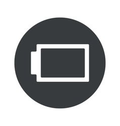 Monochrome round discharged battery icon vector