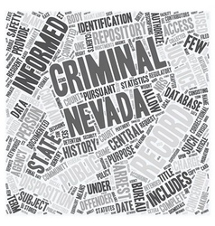 Nevada Criminal Records For Resident Research text vector
