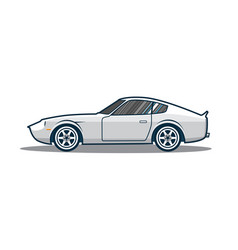 Old japan sport car vector