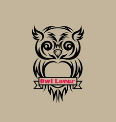 owl lover vector image