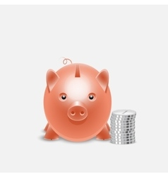 Piggy bank money box vector image