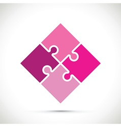 Pink jigsaw pieces vector