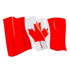 Political waving flag canada vector