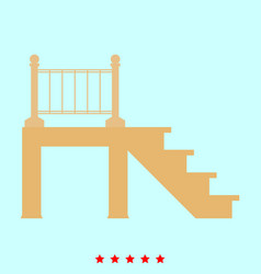 Porch set it is color icon vector
