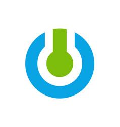 Power on off logo icon vector