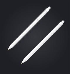 realistic white pen set vector image