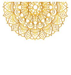 round gold mandala on white isolated background vector image