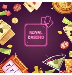 Royal Casino Retro Cartoon vector image
