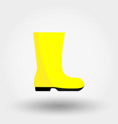 rubber boot icon flat vector image