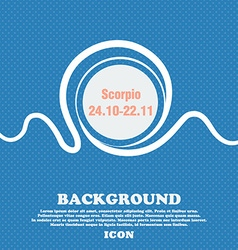 Scorpio sign Blue and white abstract background vector image