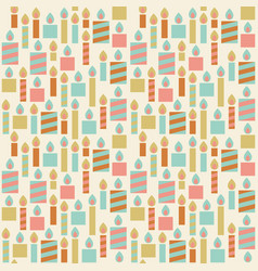 seamless pattern birthday candle vector image