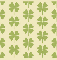 seamless pattern with a leaf of clover vector image