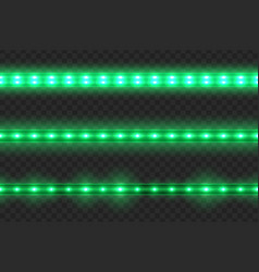 set led glowing light stripes vector image