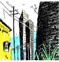 sketch city architecture vector image
