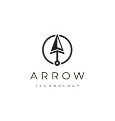Spear arrowhead and technology with initial a t vector