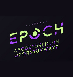 stylized uppercase letters alphabet typeface vector image
