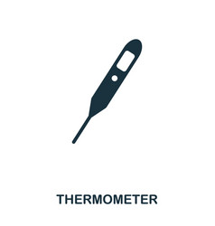 thermometer icon line style icon design ui vector image