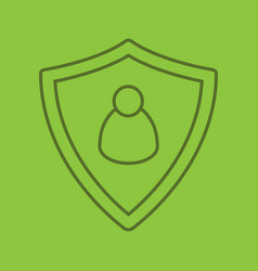 User security color linear icon vector