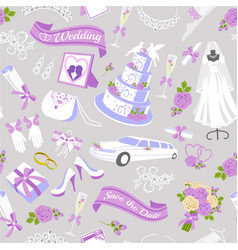 v bridal showel seamless pattern vector image