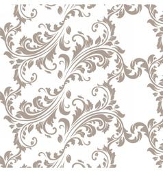 Vintage Spring floral damask pattern element vector