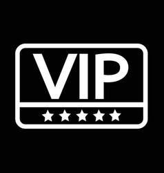vip icon design vector image