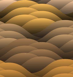 Warm abstract color waves vector image