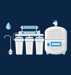 Water filtration concept flat vector