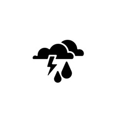 web icon haze storm clouds and rain vector image