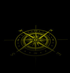 wind rose yellow perspective vector image