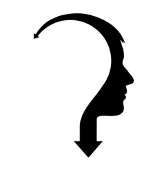 Abstract male head with arrow vector image vector image