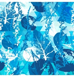 Abstract seamless pattern with leaves vector image vector image