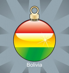 Bolivia flag in bulb vector image vector image