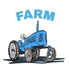 Farm tractor grunge t-shirt print design vector