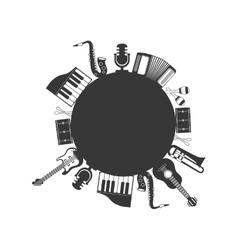 instrument music sound icon set graphic vector image
