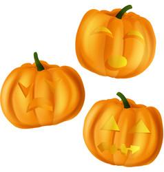 pumpkins for halloween on vector image