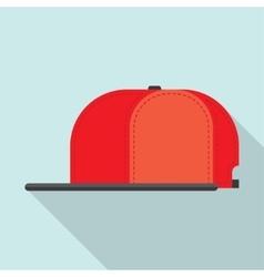 Rap cap bill baseball vector image