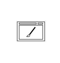 web page design icon vector image