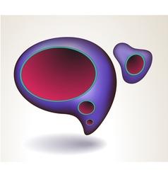 abstract blue speech bubble vector image