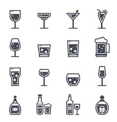 Alcohol Beverage Icon vector image