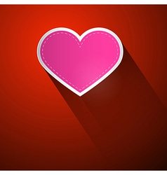 I Love You Theme Pink Heart on Dark Red Background vector image vector image