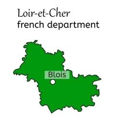 Chateau of blois the loiretcher dpartement Vector Image